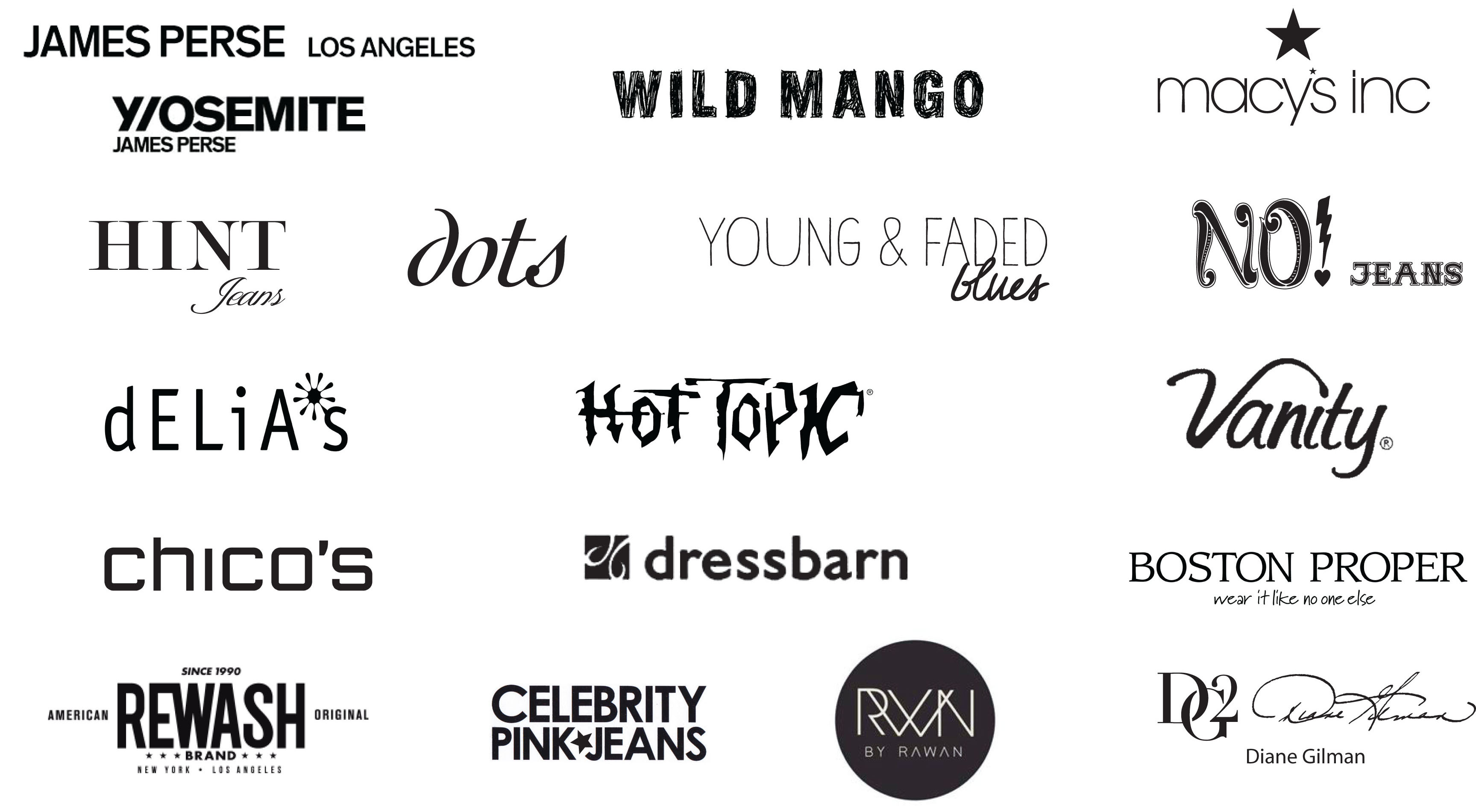 Brands I've worked for